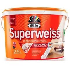 Краска акриловая ослепительно белая Dufa Superweiss RD4 / Дюфа Супервайс