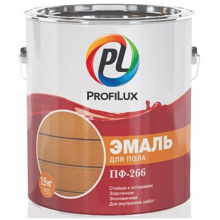 Эмаль для пола ПФ-266 алкидная ProfiLux / Профилюкс
