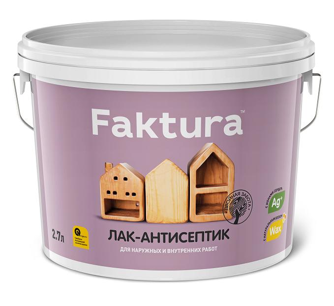Лак-антисептик интерьерный Faktura / Фактура шелковисто-матовый