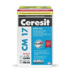 Клей для плитки высокоэластичный Ceresit CM 17 Super Flex / Церезит Супер Флекс