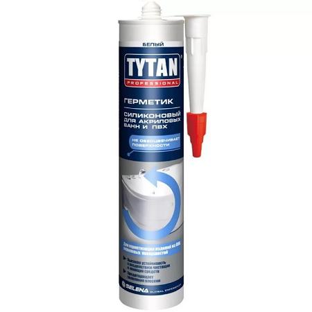 Герметик силиконовый для акриловых ванн ПВХ Tytan Professional / Титан