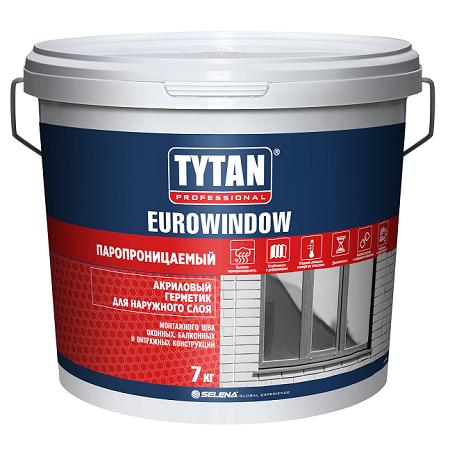 Герметик акриловый для наружных работ Tytan Professional Eurowindow / Титан