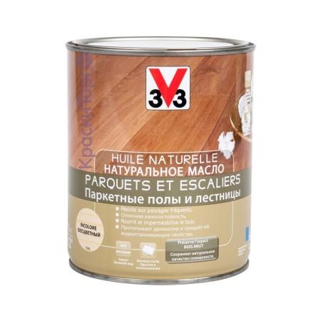 Масло натуральное для паркетных полов и лестниц V33 / В33