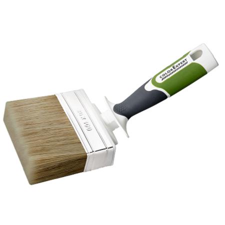 Кисть макловица изогнутая для пропиток и антисептиков по дереву Color Expert Profi / Колор Эксперт