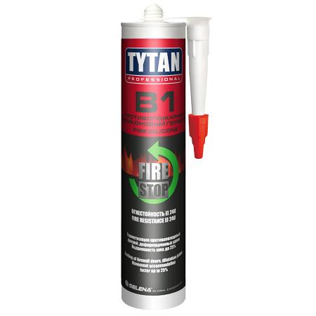 Герметик противопожарный силиконовый Tytan Professional Fire Stop B1 / Титан