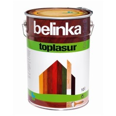 Декоративное лазурное покрытие для древесины Belinka Toplasur / Белинка Топлазурь