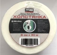 Лента холстянка для заделки стыков гипсокартона Tytan Professional / Титан Профессионал