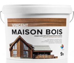 Краска для древесины Vincent Maison en Bois / Винсент Мезон Буа шелковисто-глянцевая
