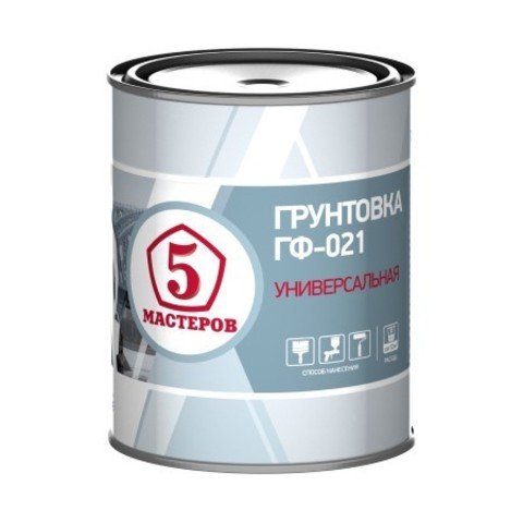 Грунтовка антикорозийная ГФ-021 Ярославские Краски Пять Мастеров